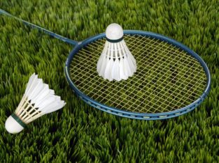 Blue Badminton Racket